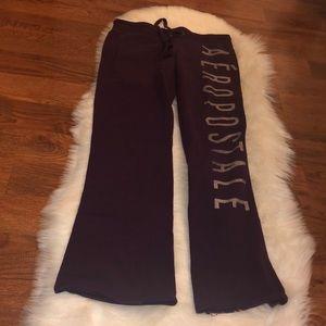 Aeropostale purple sweat pants